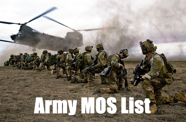 Army Jobs List