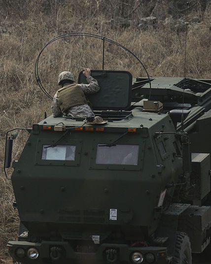A High Mobility Artillery Rocket System (HIMARS) Operator at work