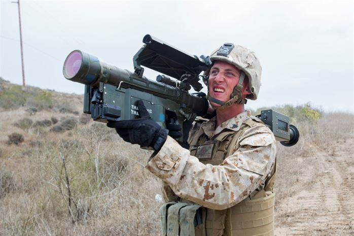 A Low Altitude Air Defense (LADD) Gunner at work