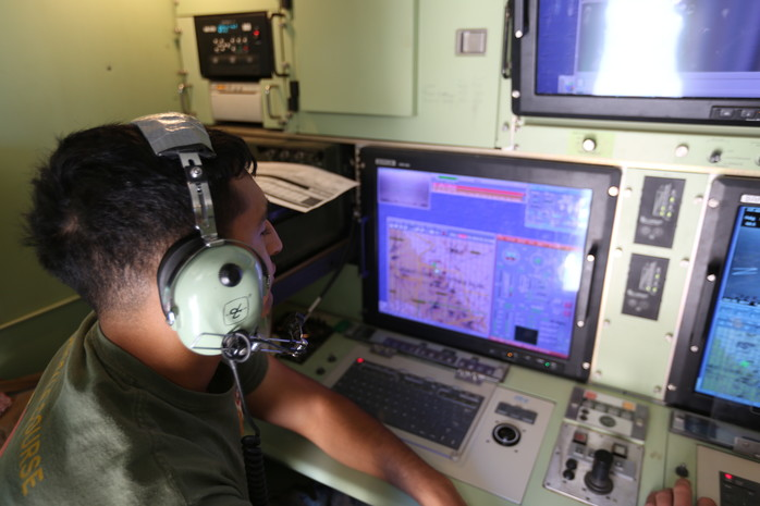 An Unmanned Aircraft System Operator at work