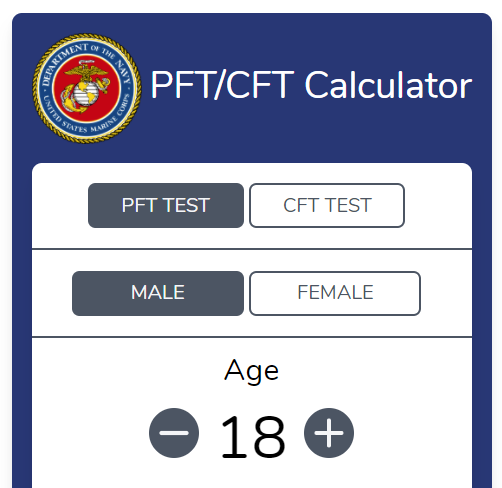 CFT and PFT Calculator